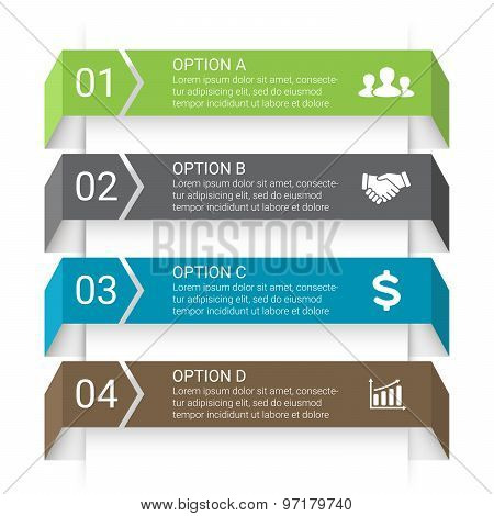 Vector arrows lines infographic. Template for diagram, graph, presentation and chart. Business start