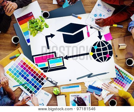 Learning Online Education Global Concept