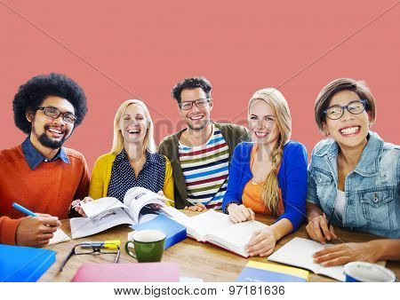 Teamwork Casual Cheerful Brainstorming Learning Concept