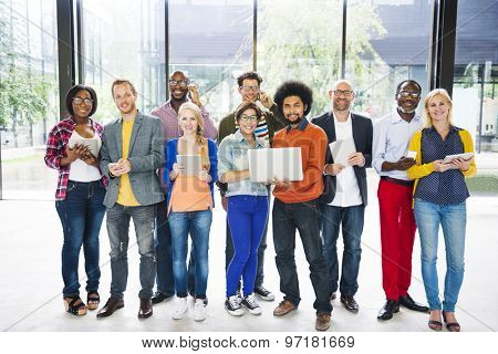 Diverse Group People Technology Concept