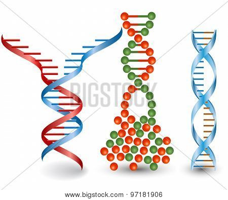Abstract images of broken DNA chains