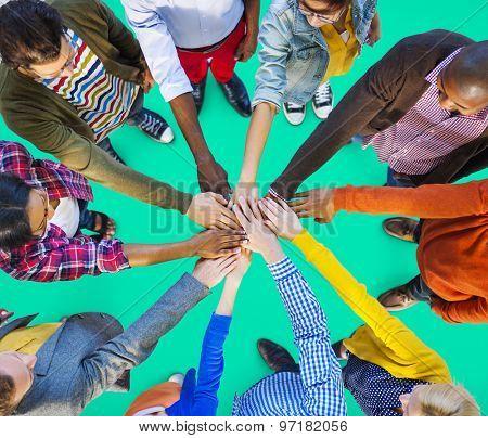 Team Corporate Teamwork Collaboration Assistance Concept