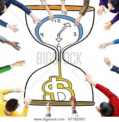 Time is Money Investment Countdown Measure Concept