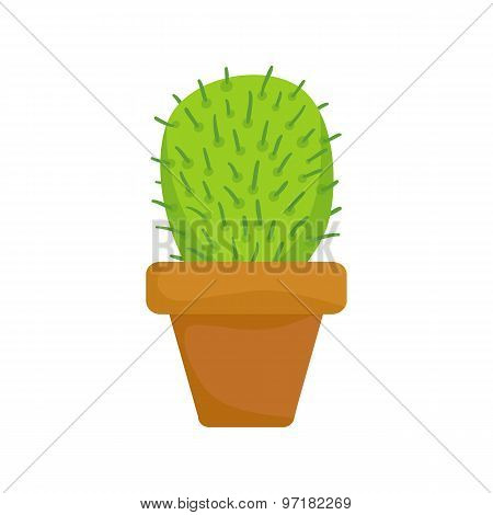 Cactus On White Background. Vector Illustration In Mexican Style.