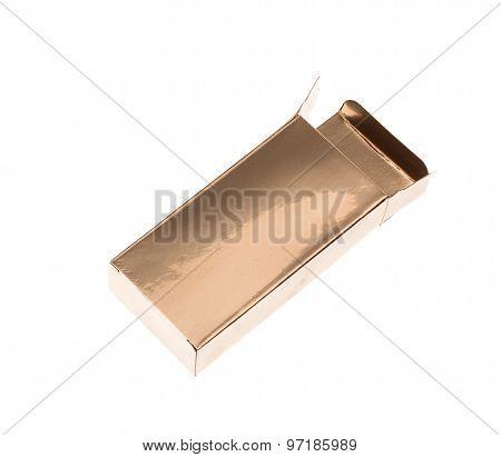 Opened golden box