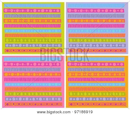 Decorative Patterns Collection In Multiple Cheerful Color