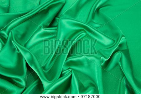 Green silk background