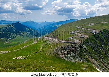 Winding Road On Mountains