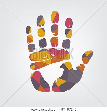 Mosaic Handprint