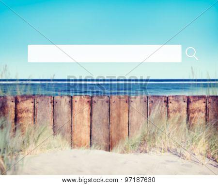 Beach and Fence Grass Skyscraper Concept
