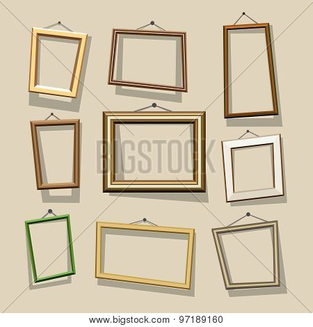 Vector cartoon frames set