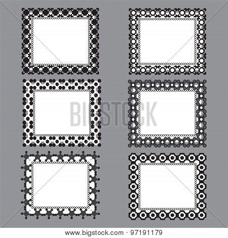 Black And White Shape Designed Frames