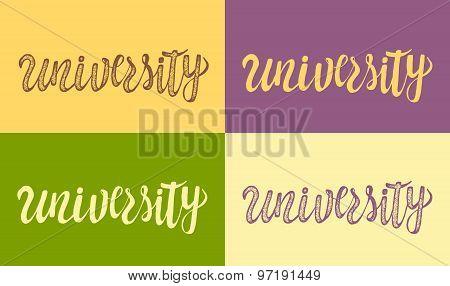 Typographic poster with university