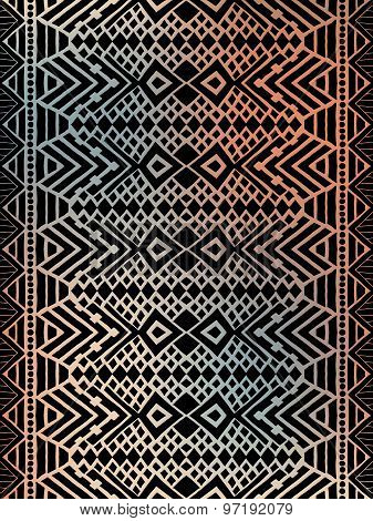 Aztec tribal mexican pattern