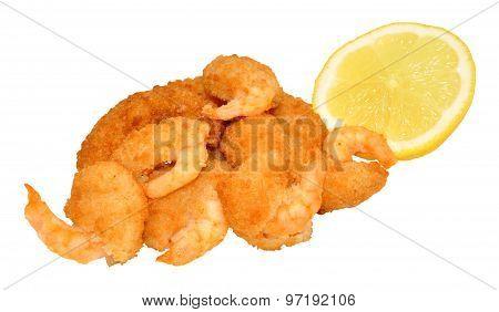Golden Breadcrumb Coated Prawns