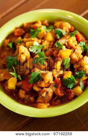 Gobi Aloo Indian Curry Dish