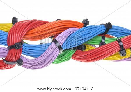 Multicolored electrical cables