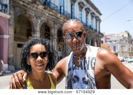 Portrait of a Cuban couple in Havana, Cuba