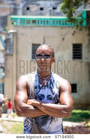 Portrait of a Cuban man in Havana, Cuba