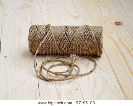 Natural hemp rope