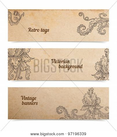 Vintage Banners Set