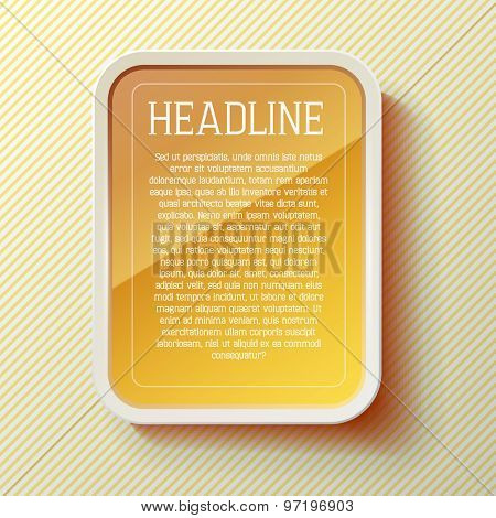 vector tablet frame template