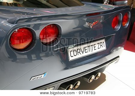 Chevy Corvette Zr1 Detail At Paris Motor Show