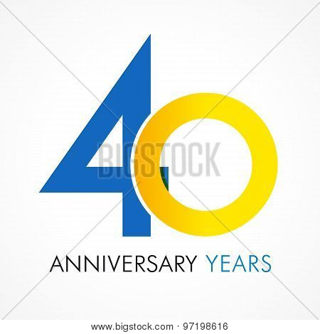 40 circle anniversary logo