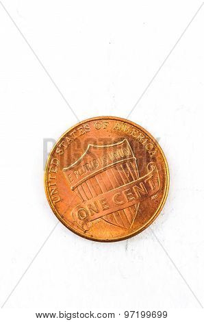 1 Us Cent Coin Copper In God We Trust