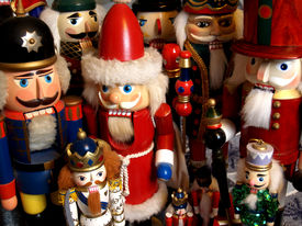 picture of tchaikovsky  - a collection of nutcrackers from around the world with father christmas kings soldiers and princes - JPG