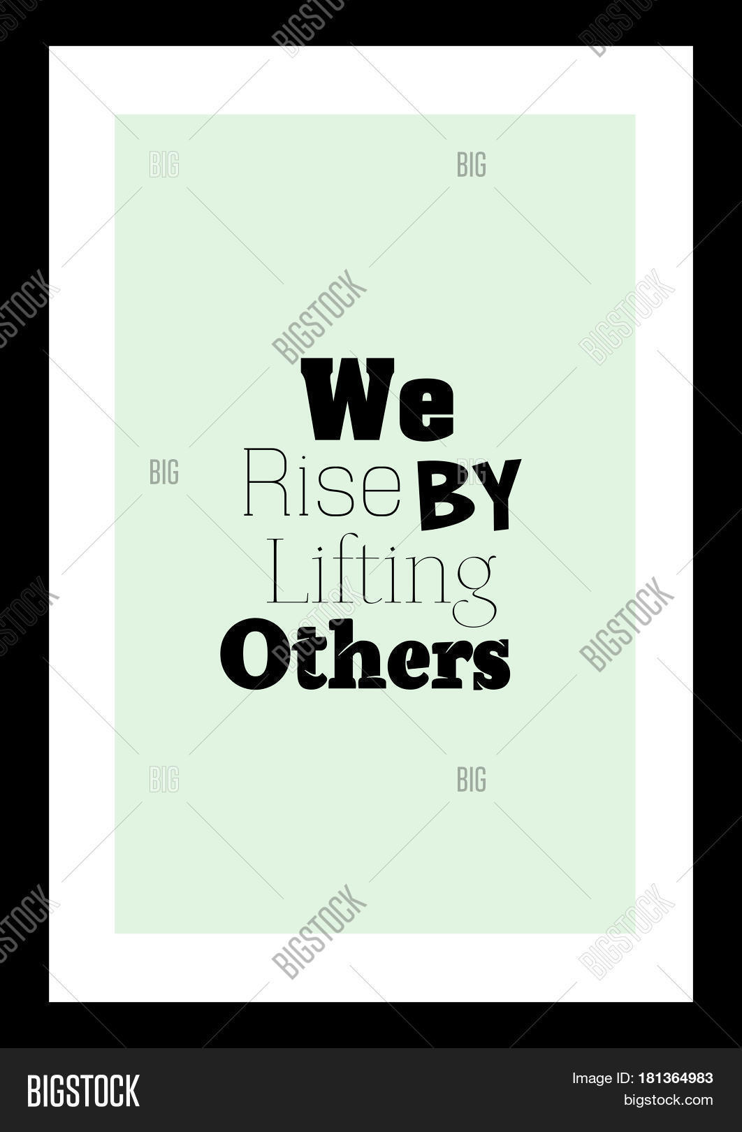 Lifting Quotes Lettering Quotes Motivation About Vector & Photo  Bigstock