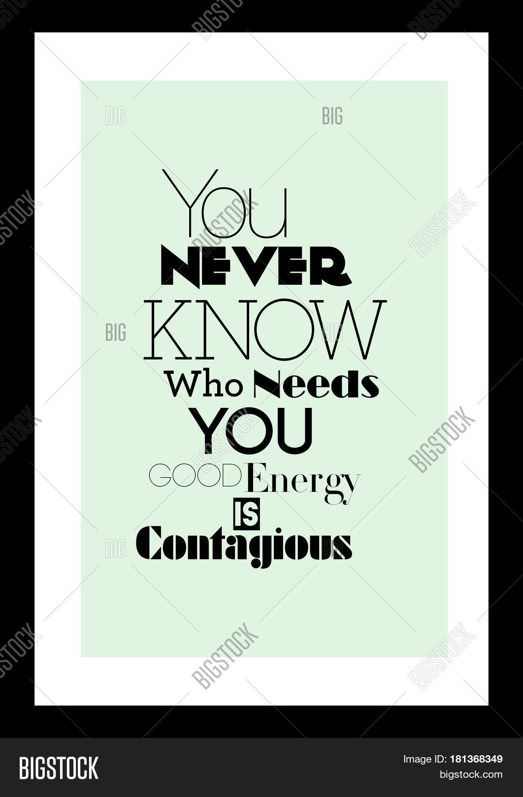 Good Energy Quotes Lettering Quotes Motivation About Vector & Photo  Bigstock