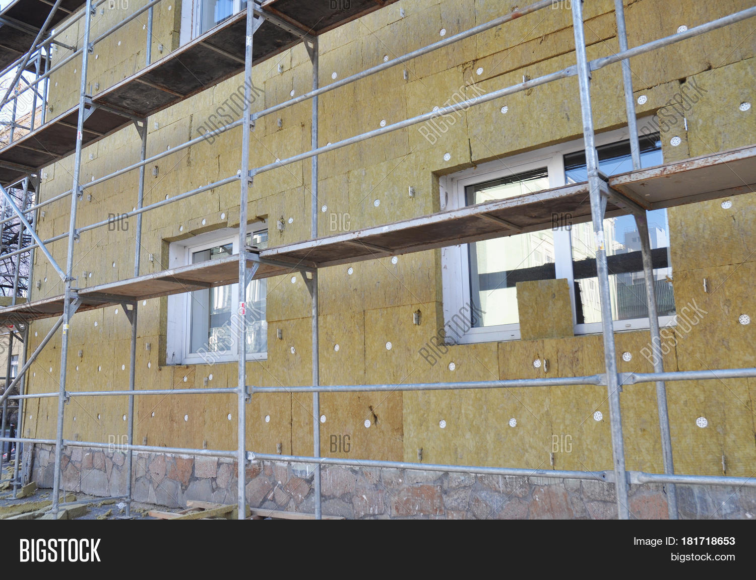External wall insulation solid image photo bigstock for Wool house insulation