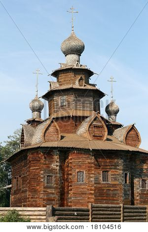 Old wooden church in Suzdal Russia