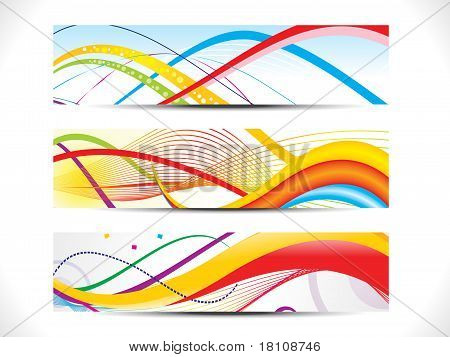 Abstract Colorful Web Header Set