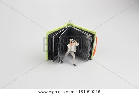 Image Of Mini Figure Dolls Photographer Take Picture