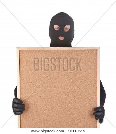 Bandit With Empty Corkboard