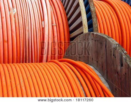 long electric orange metal wire