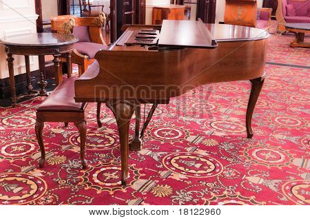 Grand Piano in Opulent Antique Setting