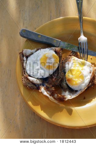 Homemade Organic Sunnyside Up Eggs