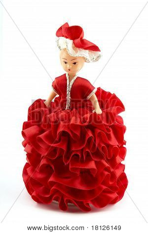 Doll In Red Dress.