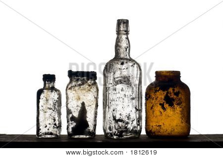 Backlit Unearthed Bottles
