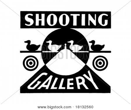 Shooting Gallery - Retro Ad Art Banner