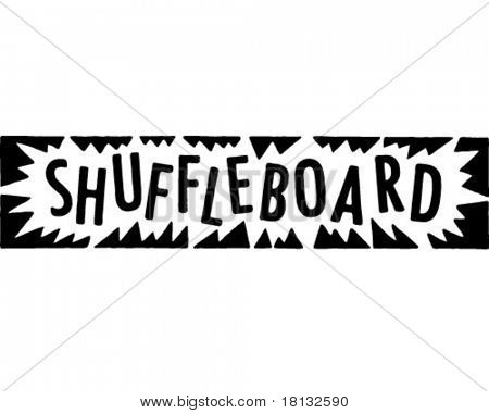Shuffleboard - Retro Ad Art Banner