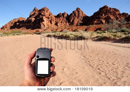 Hiking the Valley of Fire with GPS