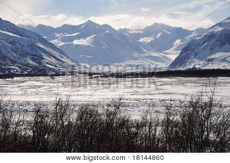 Black Rapids Glacier in the Alaska Range