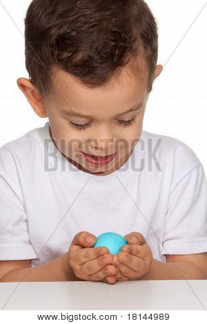 Boy Holding Egg