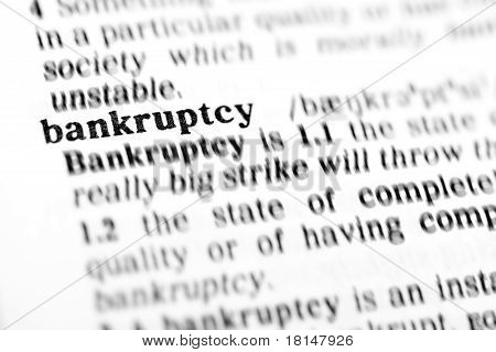 Bankruptcy (the Dictionary Project)