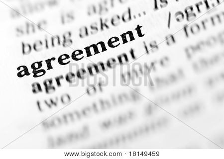 Agreement (the Dictionary Project)