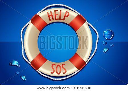 SOS written on Lifebouy